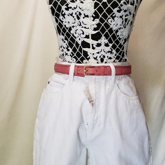 Talbots Accessories - Talbots | Leather Pink Blush Belt